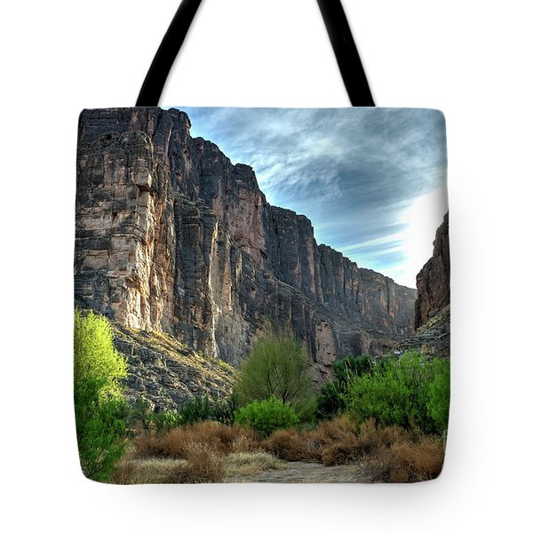 Santa Elena Canyon Tote Bag