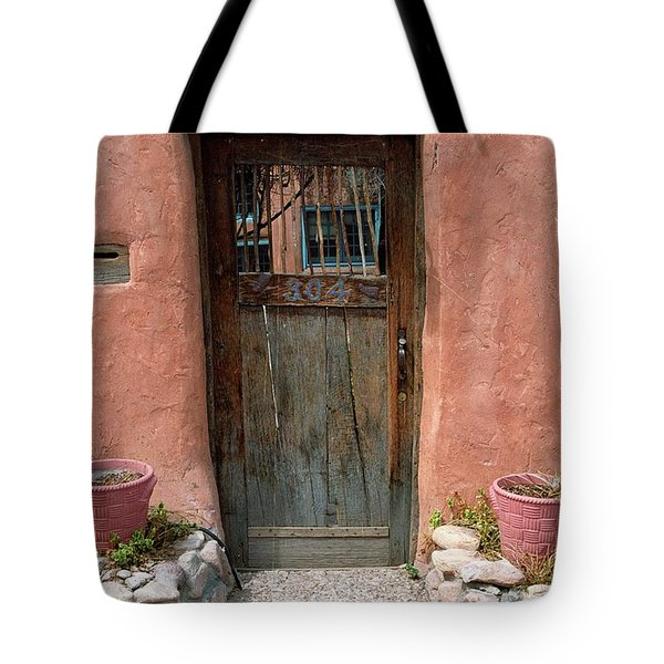 Santa Fe Door Tote Bag