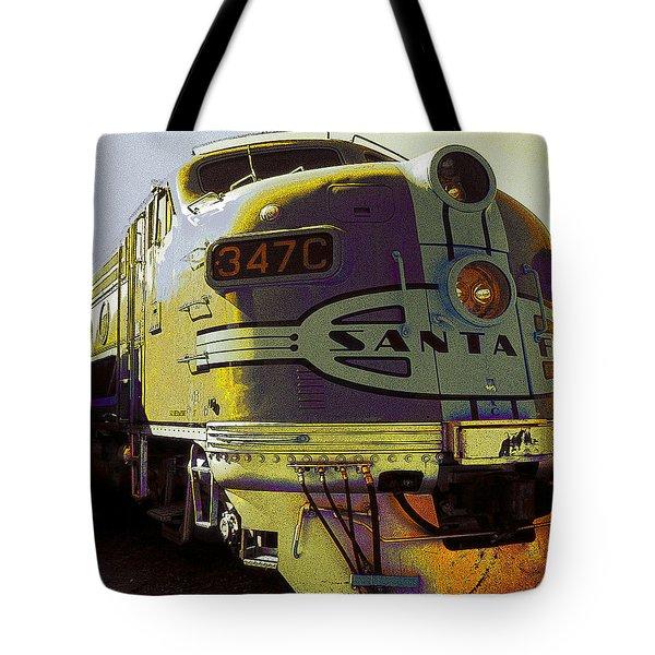 Santa Fe Railroad 347c - Digital Artwork Tote Bag