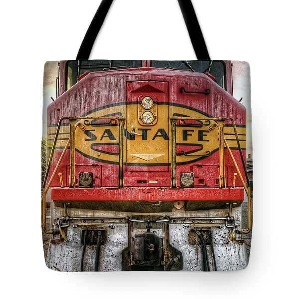 Santa Fe Train Engine Tote Bag