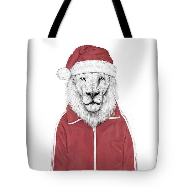 Santa Lion  Tote Bag