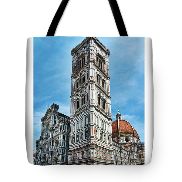 Santa Maria Del Fiore Cathedral Doorway And Bell Tower Tote Bag