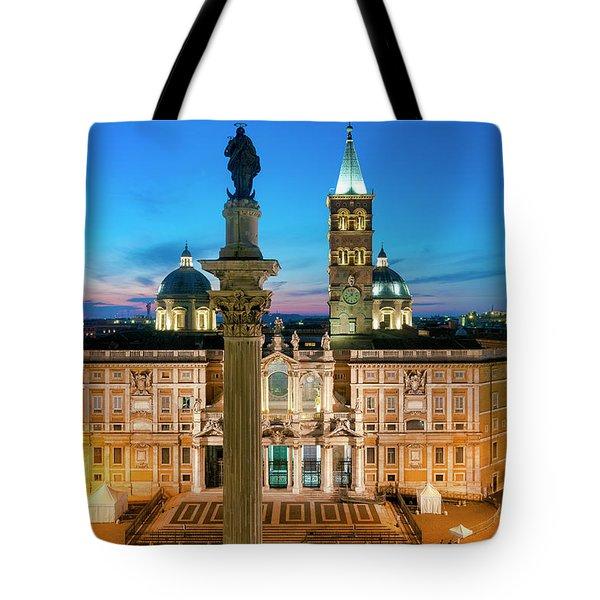 Tote Bag featuring the photograph Santa Maria Maggiore by Fabrizio Troiani