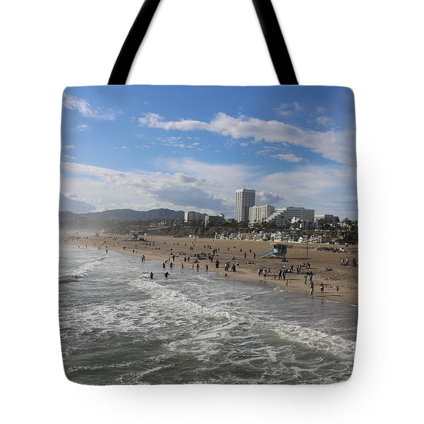 Santa Monica Beach , Santa Monica, California Tote Bag