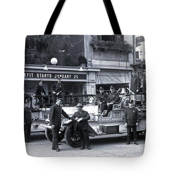 Santa Monica Firemen 1920 Tote Bag