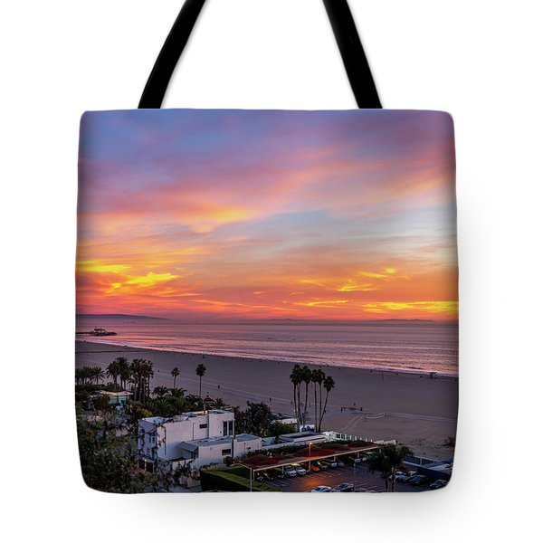 Santa Monica Pier Sunset - 11.1.18  Tote Bag
