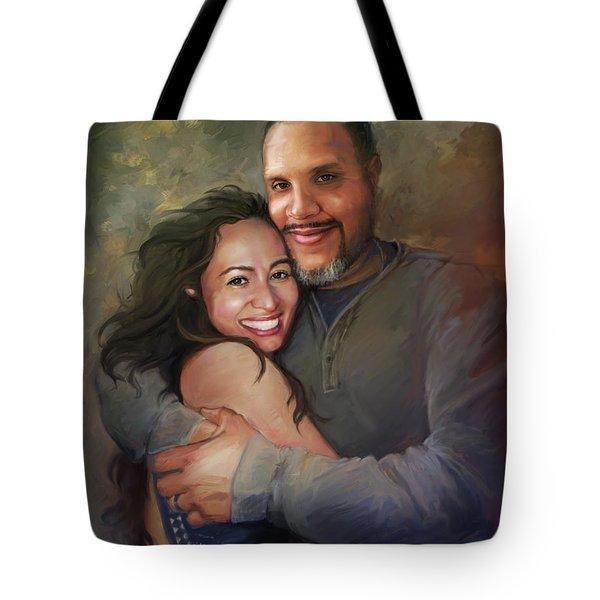 Sara And Ahmed Tote Bag