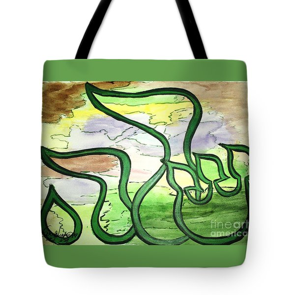 Tote Bag featuring the painting Sarah Nf2-123 by Hebrewletters Sl