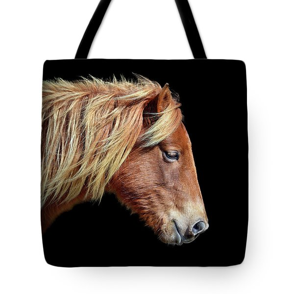Tote Bag featuring the photograph Sarah's Sweat Tea Portrait by Assateague Pony Photography