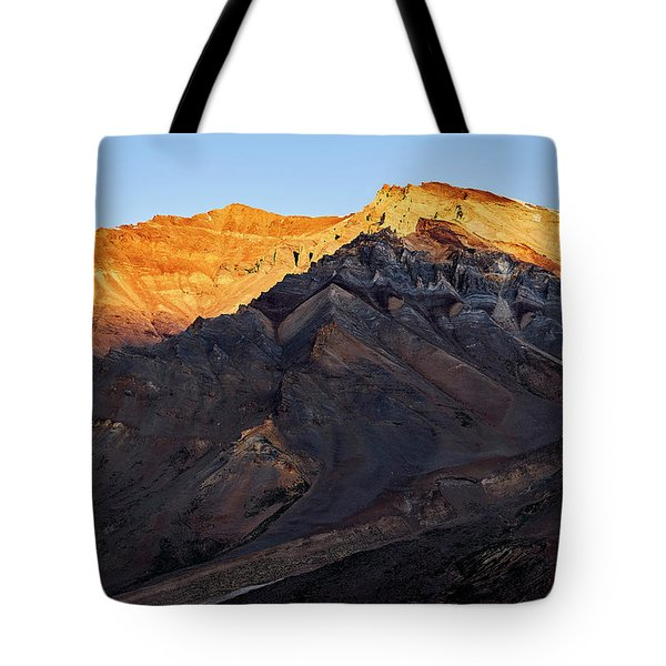 Tote Bag featuring the photograph Sarchu Sunrise by Whitney Goodey