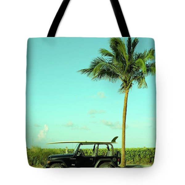 Saturday Surfer Jeep Tote Bag
