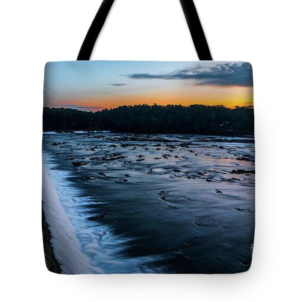 Savannah Rapids Sunrise - Augusta Ga Tote Bag
