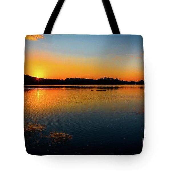 Savannah River Sunrise - Augusta Ga Tote Bag