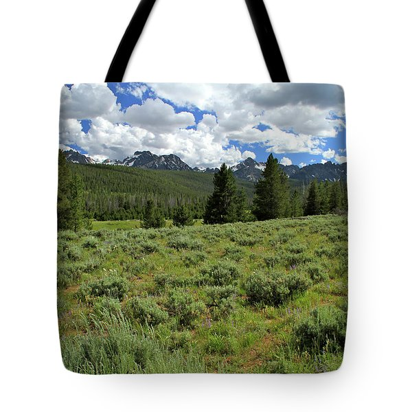 Sawtooth Range Crooked Creek Tote Bag