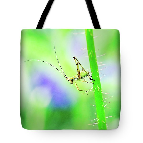 Say Hello To My Little Green Insect Friend Tote Bag