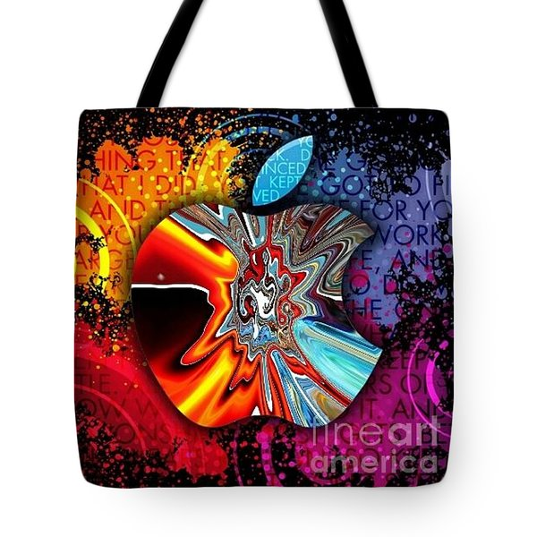Tote Bag featuring the digital art Say Some Thing  by A z Mami