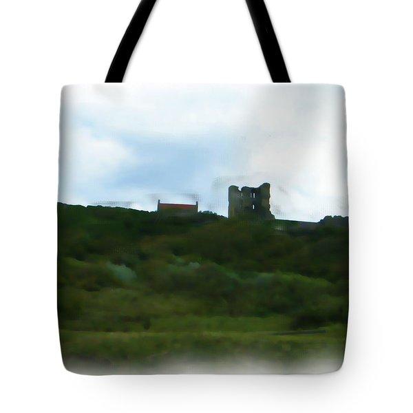 Scarborough Castle Painting Tote Bag