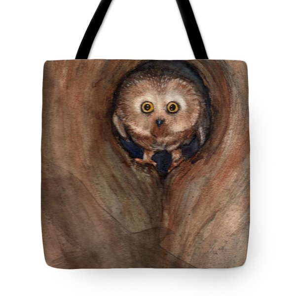 Scardy Owl Tote Bag