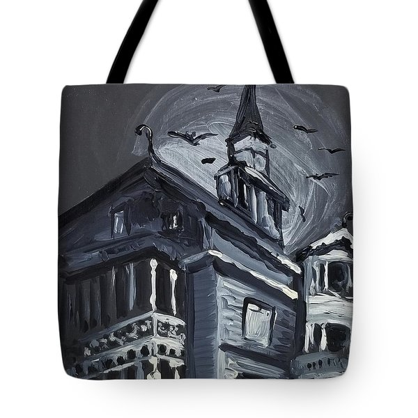 Scary Old House Tote Bag