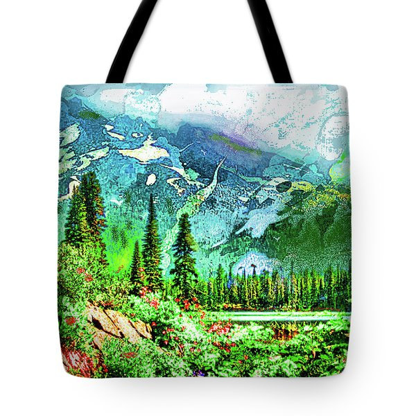 Scenic Mountain Lake Tote Bag