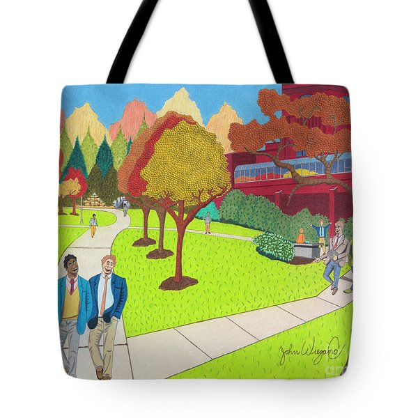 Tote Bag featuring the drawing School Ties by John Wiegand