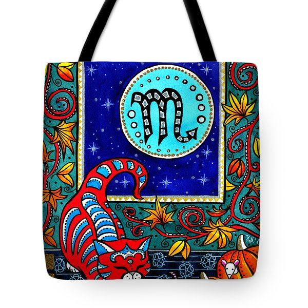 Scorpio Cat Zodiac Tote Bag