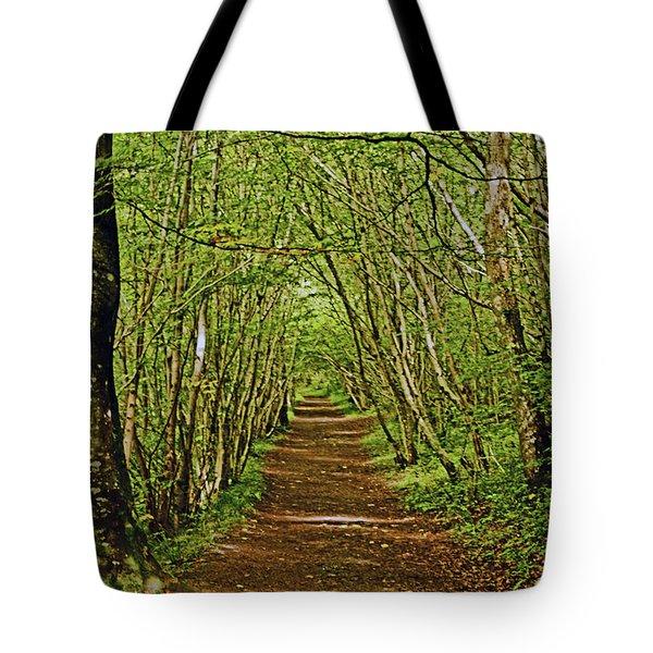 Scotland. Killiecrankie. Path Through The Trees. Tote Bag