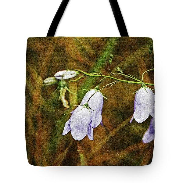 Scotland. Loch Rannoch. Harebells In The Grass. Tote Bag