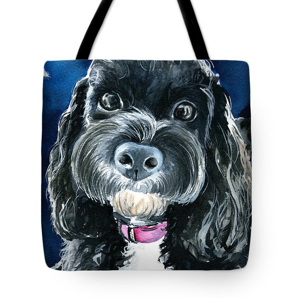 Scout - Cavoodle Dog Painting Tote Bag