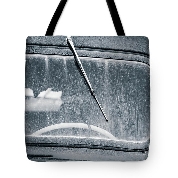 Scratched Car Window Tote Bag