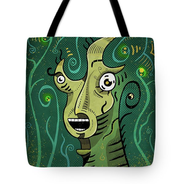 Tote Bag featuring the digital art Scream by Sotuland Art