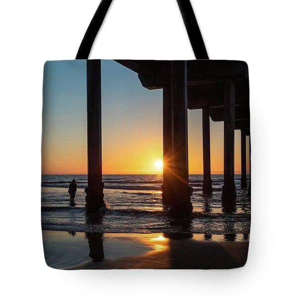 Scripps Pier Tote Bag