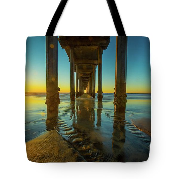 Scripps Pier San Diego Sunset 2 Tote Bag