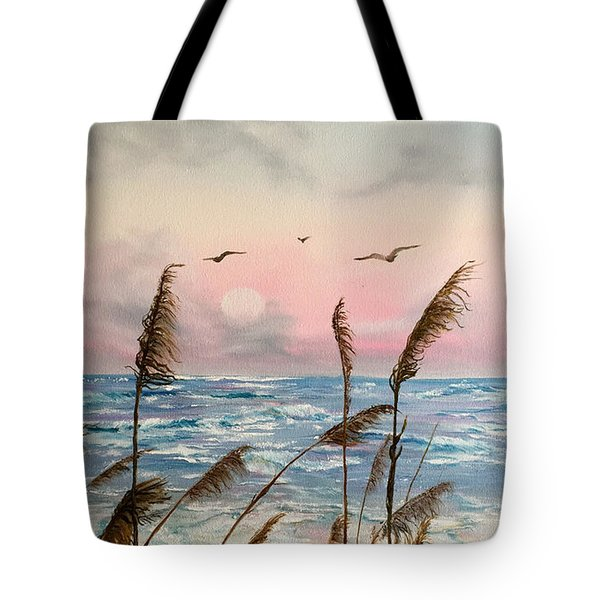 Sea Oats And Seagulls  Tote Bag