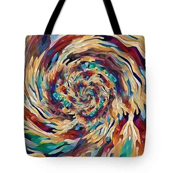 Tote Bag featuring the digital art Sea Salad Swirl by David Manlove