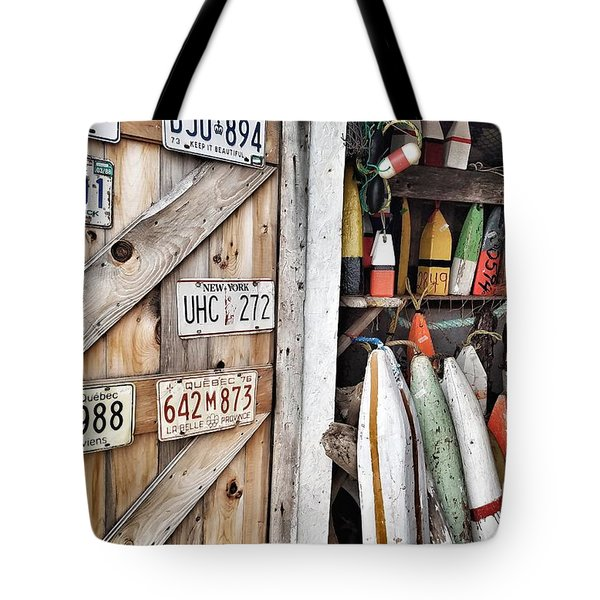 Sea Shack Plates And Buoys Tote Bag