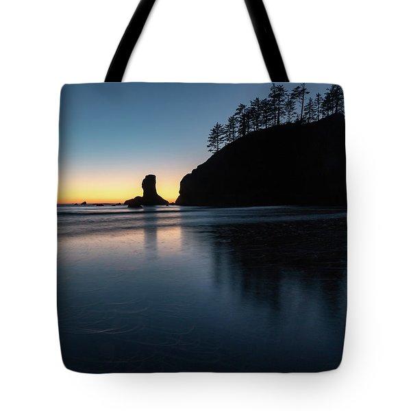 Sea Stack Silhouette Tote Bag