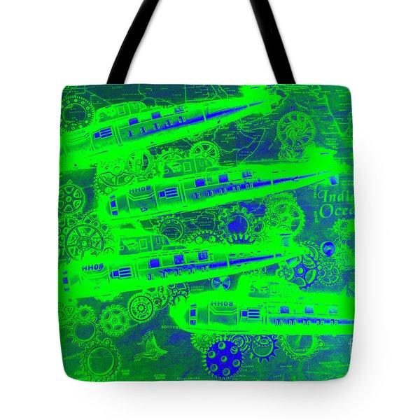 Sea Sub Sonar Tote Bag