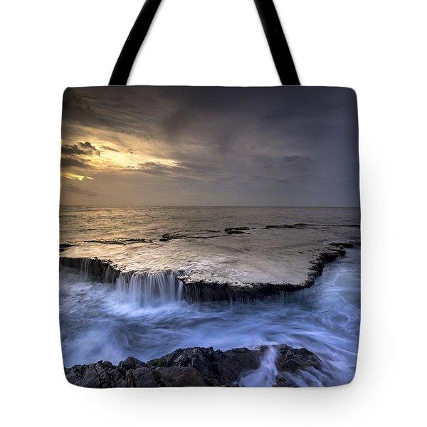 Sea Waterfalls Tote Bag
