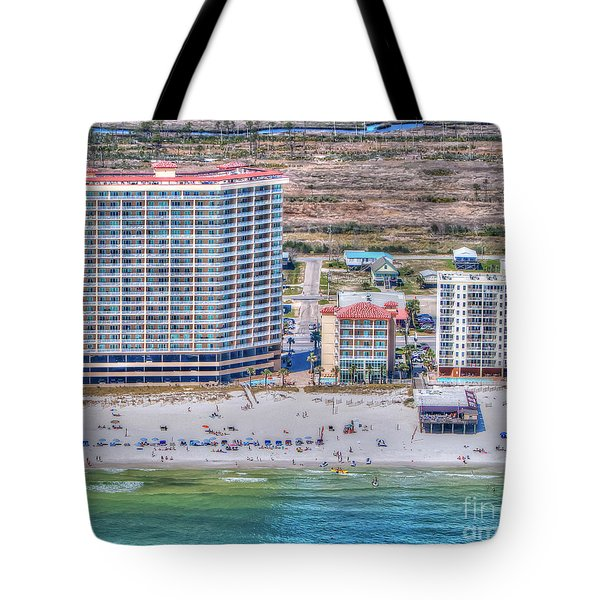 Tote Bag featuring the photograph Sea Winds  Sea N Suds by Gulf Coast Aerials -