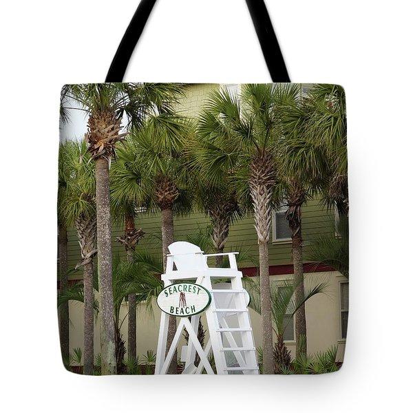 Seacrest Lifeguard Chair Tote Bag