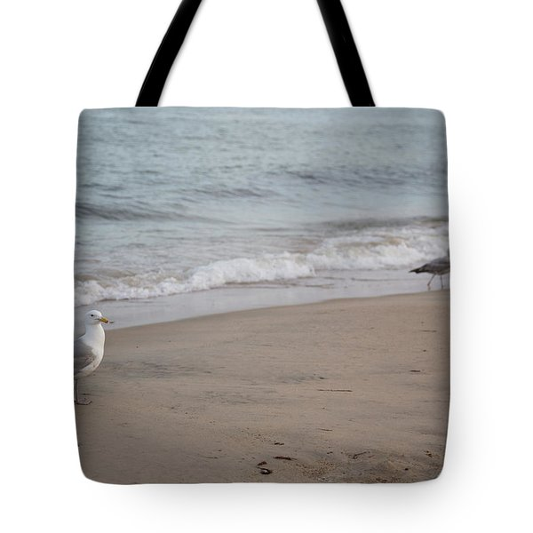 Seagulls At Misquamicut Tote Bag