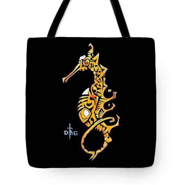Seahorse Golden Tote Bag
