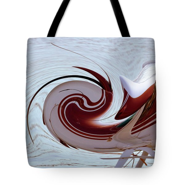 Seaplane Wave Tote Bag