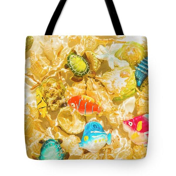 Seaside Simulation Tote Bag