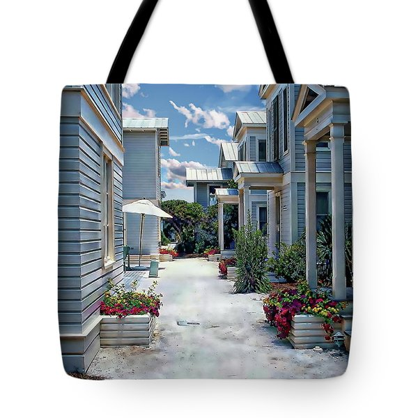 Tote Bag featuring the photograph Seaside Village by Anthony Dezenzio