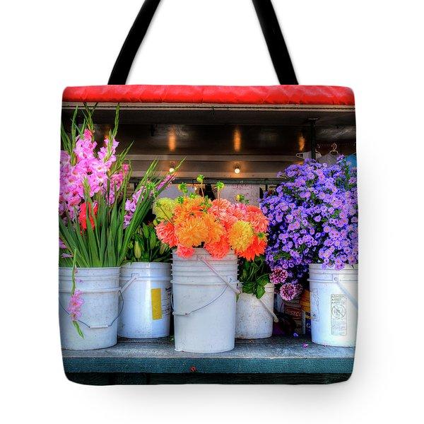 Seattle Flower Market Tote Bag
