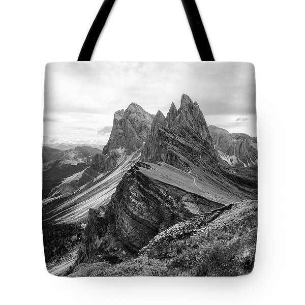 Seceda Black And White Tote Bag