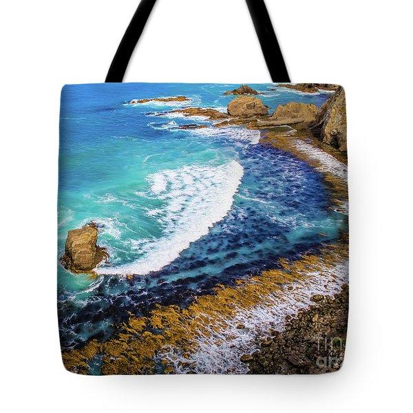 Roaring Bay At Nugget Point Tote Bag