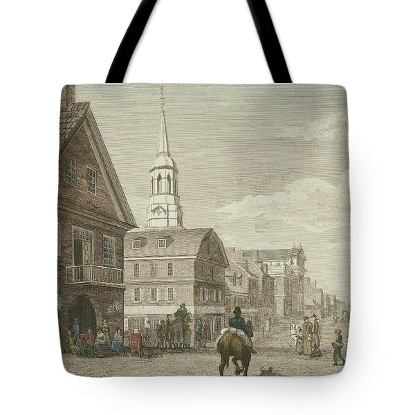 Second Street North From Market St. And Christ Church Tote Bag
